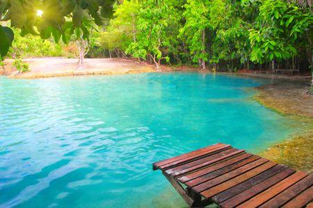 krabi: Pool di smeraldo. Krabi, Thailandia