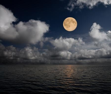 moon and sea photo