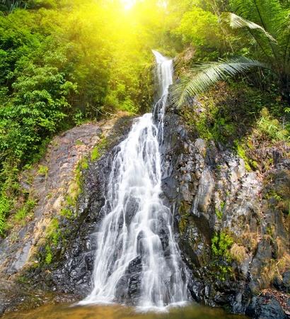 beautiful cascade waterfall Stock Photo - 8852142
