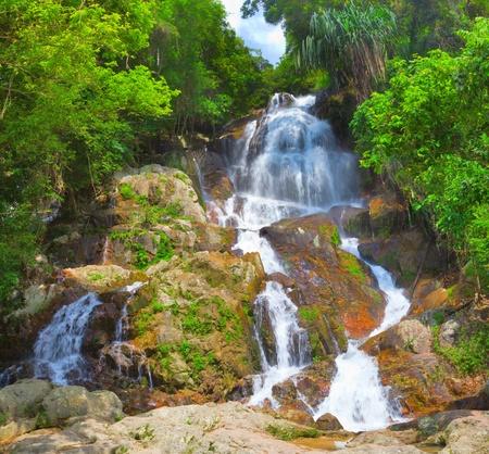 beautiful cascade waterfall photo