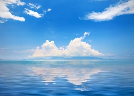 Beautiful sea and cloudy sky  photo