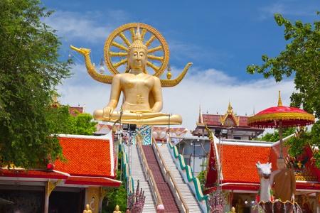 grote Boeddha standbeeld op koh samui, thailand Stockfoto