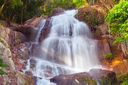 Na Muang 2 waterfall, Koh Samui, Thailand Stock Photo - 9573804