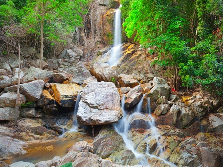 beautiful cascade waterfall, koh Samui, Thailand Stock Photo - 11870700