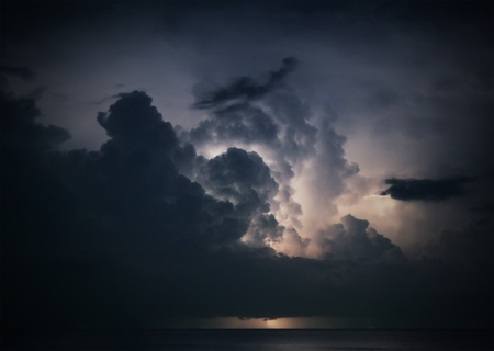 lightning above the sea Stock Photo - 11870676