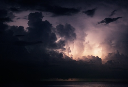 lightning above the sea Stock Photo - 11870680
