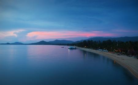 koh: sunrise over Maenam beach, koh Samui, Thailand