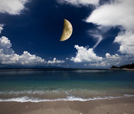 beach and moon