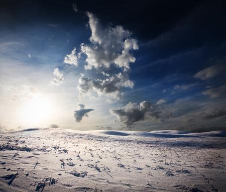 winter sunset Stock Photo - 12007600