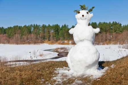spring melt snowman