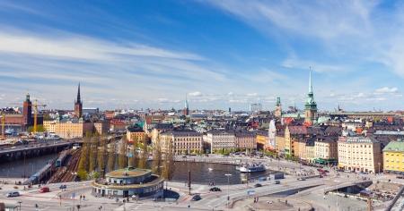 Panorama de Stockholm, Su�de Banque d'images - 13787269
