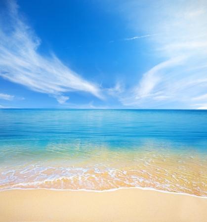 해변과 열대 바다