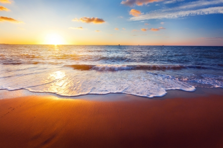 sunset and sea Stock Photo