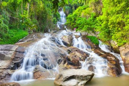 na: Na Muang 2 waterfall, Koh Samui, Thailand Stock Photo