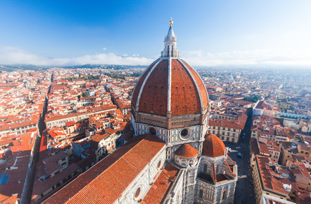 fiore: View of the Cathedral Santa Maria del Fiore in Florence, Italy
