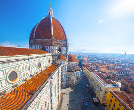 florence italy: View of the Cathedral Santa Maria del Fiore in Florence, Italy