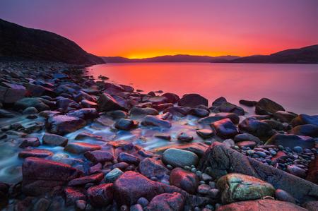 black stone: Sunset on the stone coast