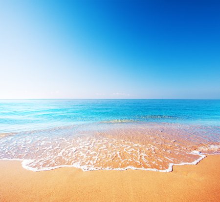 słońce: pla?a i morze, tropikalne Zdjęcie Seryjne