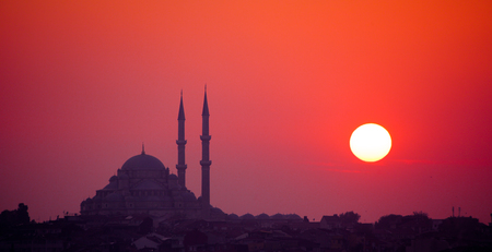 constantinople: Istanbul sunset