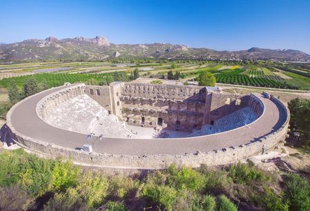 roman amphitheater: Roman amphitheater of Aspendos, Belkiz, Antalya, Turkey Stock Photo