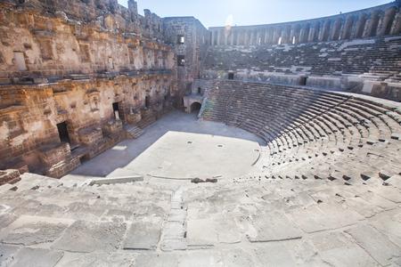 roman amphitheater: Roman amphitheater of Aspendos, Belkiz, Antalya, Turkey Editorial