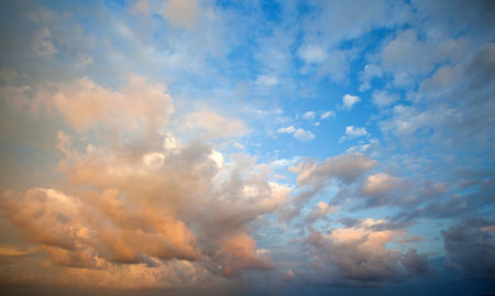 heaven light: cloudy sky Stock Photo