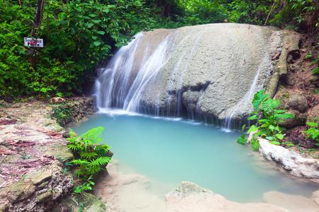 waterfall of island of Siquijor. Philippines Stock Photo