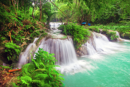 waterfall of island of Siquijor. Philippines Stock Photo