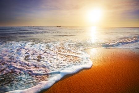 sunset and sea Stock Photo