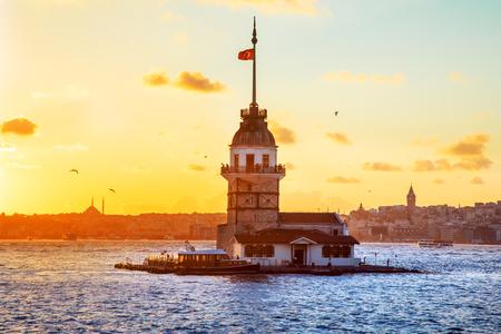 Jungfrauenturm - Istanbul, Türkei Standard-Bild