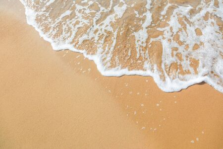 sand and wave background Stock Photo