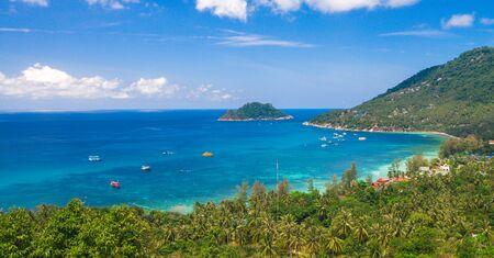 Aerial view koh Tao island. Thailand