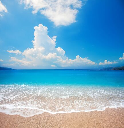 beautiful tropical beach and sea Stock fotó
