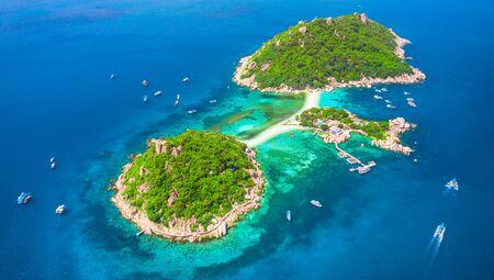 Koh Nang Yuan aerial view, Thailand