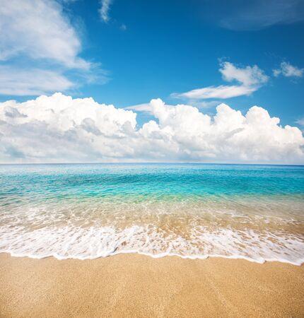 beautiful beach and tropical sea Stockfoto