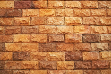 concrete blocks: wallpaper brick wall Stock Photo