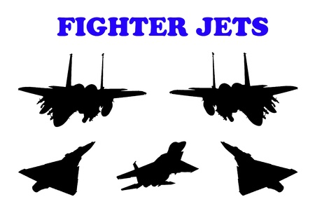 Combat aircraft. Team. vector illustration for designers  Stock Illustration - 9166885