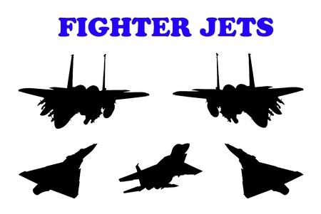 Combat aircraft. Team. vector illustration for designers