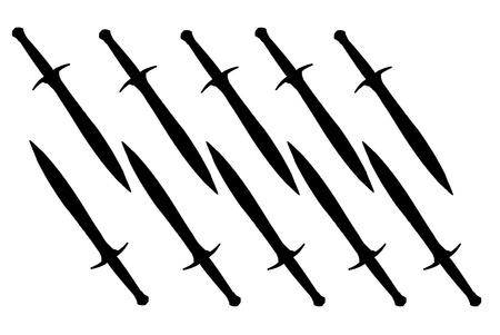 Sword on the white back ground vector Illustration Stock Illustration - 9166886