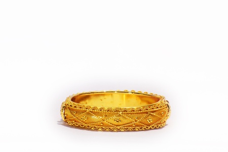 the gold bangle asia put on background 版權商用圖片