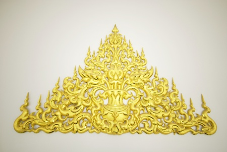 The traditional Thai style wood carving background
