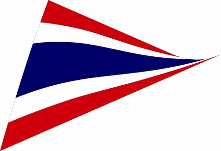 Thai flag in the wind on the background Illustration