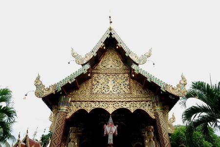 church wat Thai Lanna style Chieng Mai Thailand photo