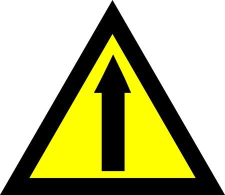 pointing up: vector lillustrazione di un segnale di pericolo lucido di una freccia che indica in su