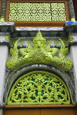 Golden Garuda decoration in The temple of Emerald Buddha
