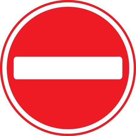 Faire entrer pas de signe sur le fond blanc.