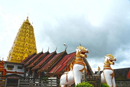 gaya: Thai golden Bodh Gaya in Sangkhlaburi Thailand