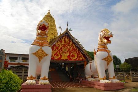 gaya: Thai golden Both Gaya in Sangkhlaburi Thailand photos on 24 September 2011. Stock Photo