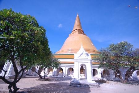 Temple Phra Nakhon Chedi in Nakhon Prathom Thailand