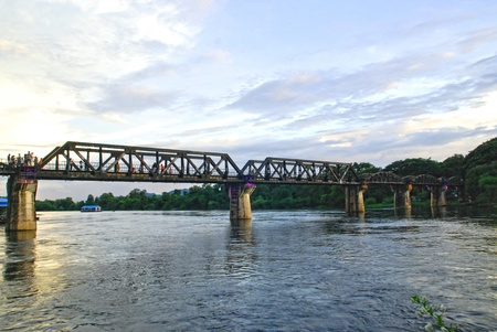 River Kwai railway bridge at kanjanaburi Thailand